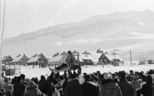Hundevæddeløb i Qullissat. 1964-1970. Foto: Bo Thuesen