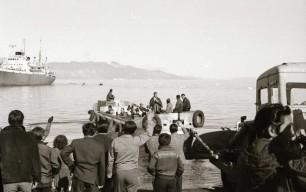 Afrejse fra stranden ved Qullissat. 1964-1970. Foto: Bo Thuesen