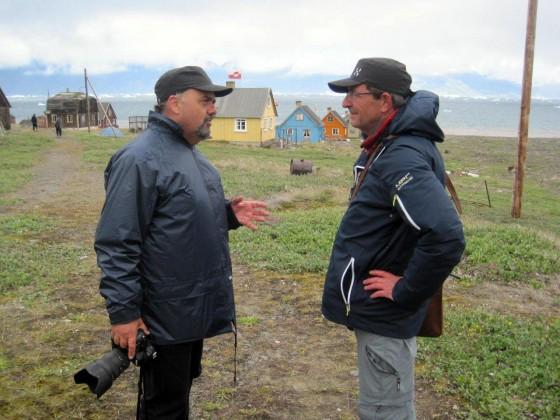 Kontakt: Fotograf Leif Tuxen (venstre) & forfatter Søren Peder Sørensen (højre)
